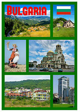 BULGARIA - SOUVENIR NOVELTY FRIDGE MAGNET - FLAGS / SIGHTS - BRAND NEW - GIFTS