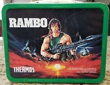 Vintage 1985 Rambo Metal Lunchbox. No Thermos.