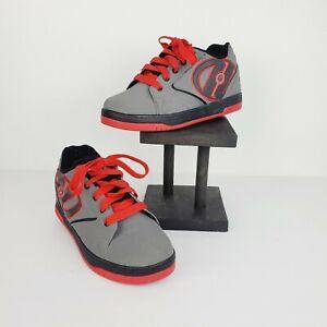 Heelys Propel 2.0 770256 Skate Casual Shoes Gray Red & Black Sz 6Y VERY NICE!