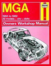 Haynes Owners Workshop Manual MGA 1500 1600 1600 Mk II (55-62) SERVICE REPAIR