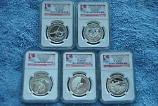 Canada, 2015, $10, Adventure Canada 5 coin Set, PF70, All Early Releases