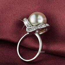 Pearl Yellow Gold Plated Fashion Rings