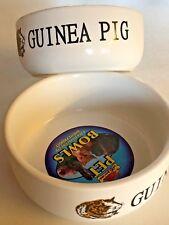 Lazy bones, Porcelain Guinea Pig bowl white with Guinea Pig design, 11.5cm.
