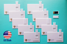 Lot of 10 pcs 8GB Credit Card Size USB 2.0 Flash Card Pen Drive Memory Stick