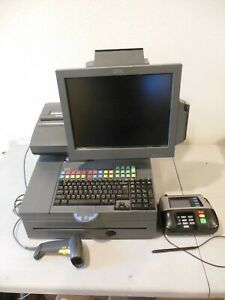 2013 IBM 40N7254 POINT OF SALE POS CASH REGISTER SYSTEM w SYMBOL SCANNER & CC