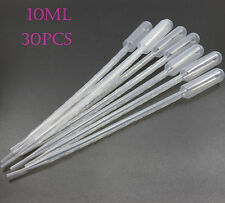 30PCS Disposable Plastic Transfer Pipettes Graduated Dropper Polyethylene 10ml