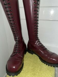 20 Hole Shelly's Cherry Red Rangers Boots Size Uk 8 eu 42