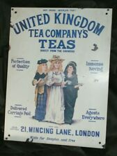 Very good repro steel advertising sign - United Kingdom Tea Company