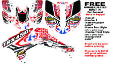 TRX450R LOGO NINETYSIX GRAPHIC KIT RED SIDES/FENDERS 06-07 HONDA 450 TRX450