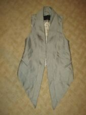 Richard Chai LOVE Vest Silver/Gray- Size 0- EUC
