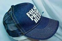 Folsom Prison Blues Hat OTTO NICE CONDITION NEVER WORN Denim cap MESH BACK