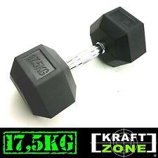 KRAFTZONE® 17,5kg Profi Kurzhantel Hex Hantel Eisen gummiert