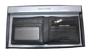 Popular PIERRE CARDIN Mens RFID Genuine Italian Leather Wallet Black Navy