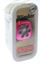 KNOG BLINDER 1 Bike Rear Light Pink Flower 11 Lumens 1 Red LED USB Charge NEW