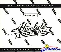 2019 Panini Absolute Football MASSIVE Factory Sealed JUMBO FAT PACK Box-240 Card