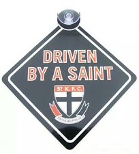 AFL ST KILDA SAINTS  CAR WINDOW SIGN WITH SUCTION FOOTBALL new sign cars