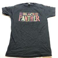 Marvel Black Panther Logo Graphic T-Shirt Sz M A1732