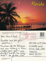 1995 SUNSET OVER THE WATERSIDE FLORIDA UNITED STATES COLOUR POSTCARD