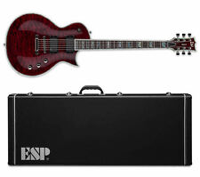 ESP LTD Deluxe EC-1000QM STBC See Thru Black Cherry NEW EC-1000 + ESP CASE