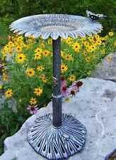 Butterfly Bird Bath in Antique Bronze - Sunflower [ID 92763]