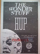 The WONDER STUFF Hup 1989 UK Poster size Press ADVERT 16x12""