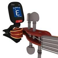 GENUINE ROWIN CLIP-ON LCD ELECTRONIC GUITAR TUNER DIGITAL BASS VIOLIN UKULELE