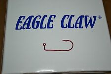 EAGLE CLAW 570RM RED JIG HOOK #4 100 PER PACK CRAPPIE DO IT MOLDS JIG HEADS