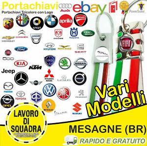 Portachiavi Auto Moto TRICOLORE ITALIA FIAT SMART KIA BMW AUDI OPEL DACIA ABARTH