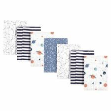 Hudson Baby Cotton Flannel Burp Cloths, Space, One Size