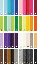 Filz Schlüsselanhänger ohne Aufdruck 3mm 20mm x 100mm mit Ösen 40 Farben