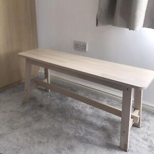 Ikea Norråker Wooden Birch Bench