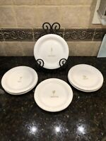 SET OF 6 WILLIAMS SONOMA WINE SERIES EMBOSSED APPETIZER COCKTAIL PLATES