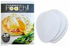 Tovolo Perfect Poach Egg Poaching Pouch 20 Count Non-Stick No Mess Oil Butter