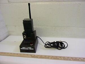 Vintage Motorola Handie-Talkie Portable w Charger  2 way Radio