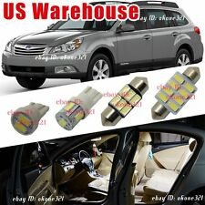 12-pc Luxury White LED Lights Interior Package Kit for 10-16 Subaru Outback