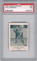 1951 Bas Du Fleuve Hockey Card Rimouski #47 Paul Gagnon Graded PSA 7