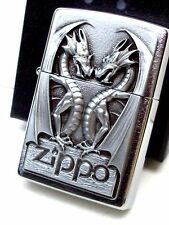 Original ZIPPO Feuerzeug Twins Dragon Heart Emblem Drachen 2.002.728  Neu & OVP