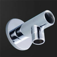 JN_ Stainless Steel Shower Head Mount Base Extension Pipe Arm Bathroom Tool Ey
