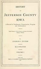 1914 JEFFERSON County Iowa IA, History and Genealogy Ancestry Family DVD B38