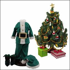 """18"""" Doll Clothes & Accessories,Xmas Elf Clothes,Shoes,Tree Set Fit American Girl"""