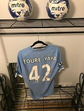 Yaya Toure Match Worn Manchester City Shirt