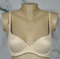 BODY BY VICTORIA VICTORIA'S SECRET Beige Nude Lined Demi Underwire Bra 34B