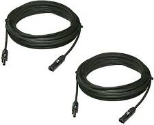 2pcs 40 Feet 10 Awg Ul Solar Panel Extension Cable Wire Pv Connectors