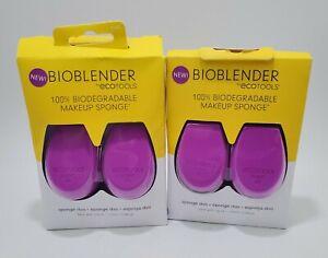 BIOBLENDER ECOTOOLS 100% Biodegradable Makeup Sponge Duo Lot of 2