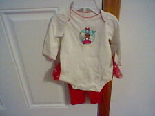 BRAND NEW INFANT GIRL'S SIZE 0-3 MONTH SMALL WONDERS 2 PIECE CHRISTMAS OUTFIT