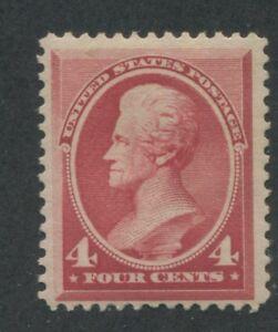 1888 US Stamp #215 4c Mint Hinged F/VF Original Gum Catalogue Value $180