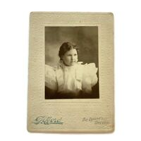 Antique Cabinet Card Photograph Fashionable Teen Girl Woman The Dallas Oregon ID