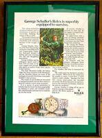 ♛ ROLEX Vintage DateJust Original Advert Advertising Memorabilia Framed ♛
