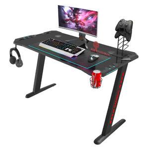RGB Gaming Desk Home Office Gaming Table RGB Lightning Desk Workstation