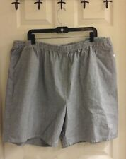 Chic, jeans shorts, women's plus size 22W A, light washed, elastic waist, NWT